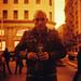 Me in Gran Via Street (Madrid) - Lubitel 2 + Redscale XR