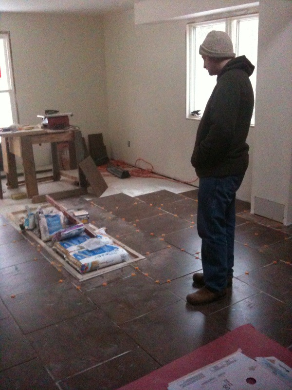 Jay Admiring The Kitchen Floor It 39 S Getting There We Use Flickr
