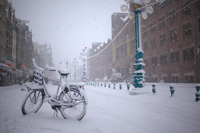 ir en bicicleta en invierno