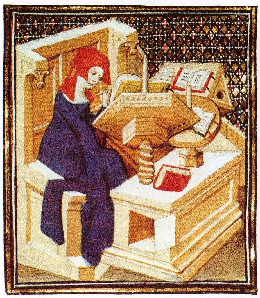 Christine De Pizan In Her Studies 7 Cea Flickr