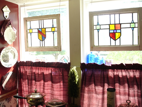 Kitchen Window Curtains Black Piping