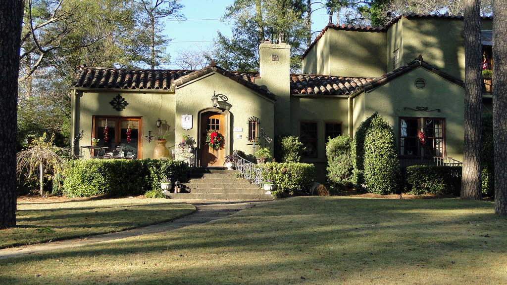 Spanish Hair Styles: Spanish Mission-Style Home, Homewood, Alabama
