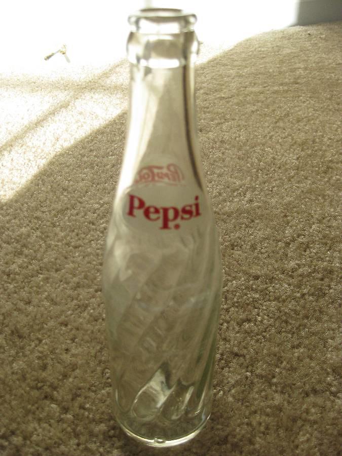 Old Clear Swirl Glass Pepsi Cola Bottle 8 Fl Oz Old