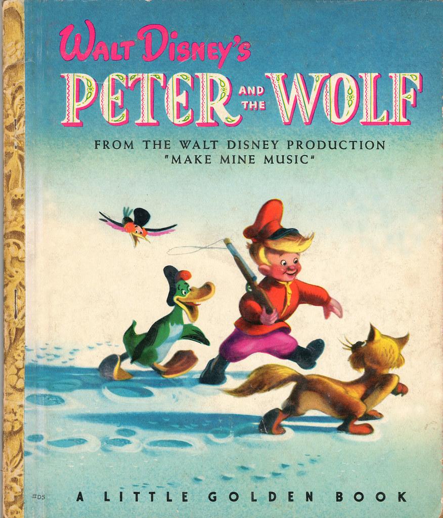 PETER and the WOLF - Original Little Golden Book