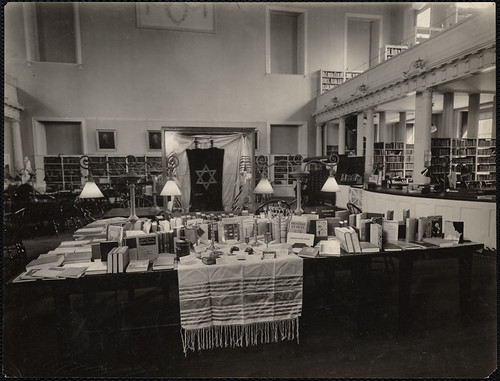 West End Branch. Boston Public Library. Jewish book week exhibit | by Boston Public Library
