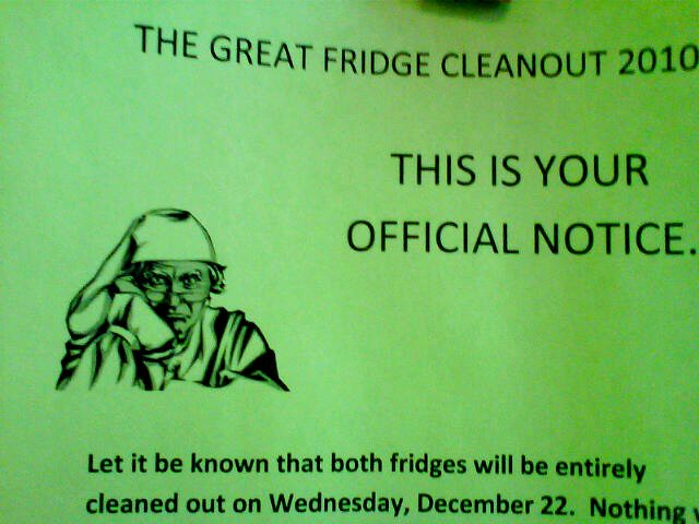 The great fridge cleanout. | Heather | Flickr