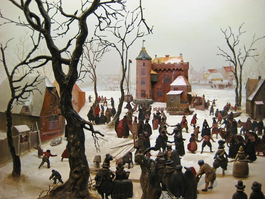Avercamp A Winter Scene With Skaters Near A Castle Flickr