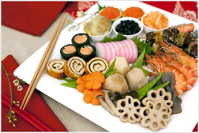 Japanese traditional new year 39 s food flickr photo for Ancient japanese cuisine