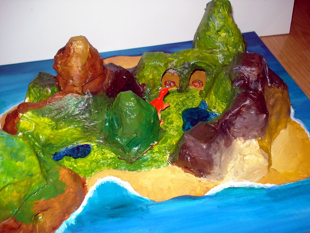 paper mache 39 model of an island flickr photo sharing