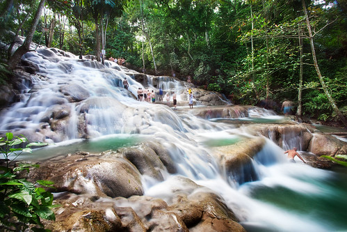 'Slip and Slide', Jamaica, Ocho Rios, Dunn's River Falls | by WanderingtheWorld (www.ChrisFord.com)