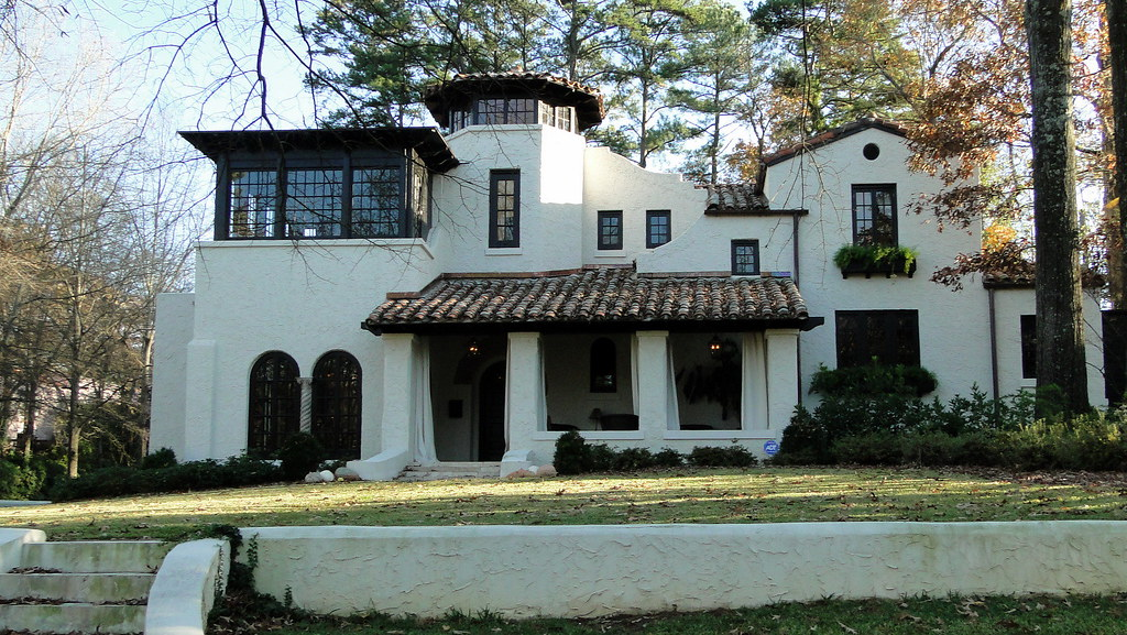 Spanish mission style home homewood alabama clyde for Mission home plans