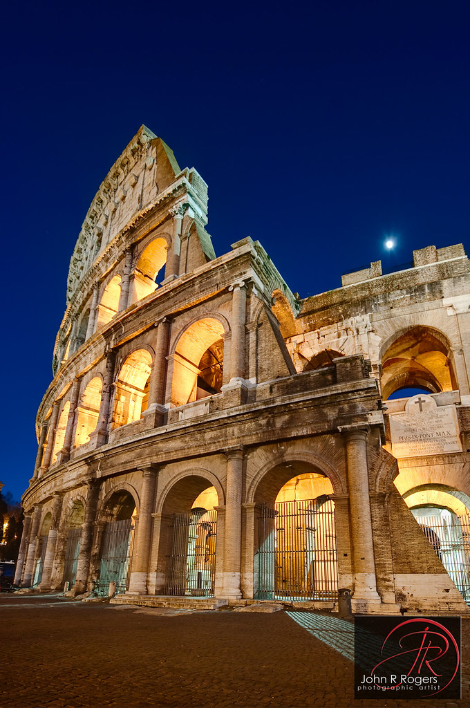 Roman Colosseum At Purple Hour Rome Italy My Brother