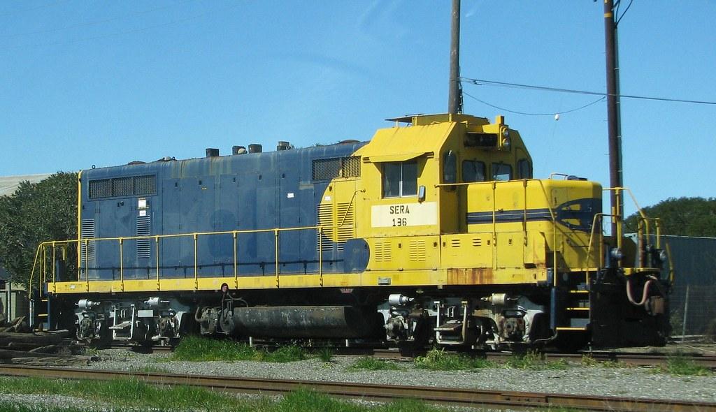 Sierra Northern Railroad Sera 136 Emd Gp7u Ex Atsf 208