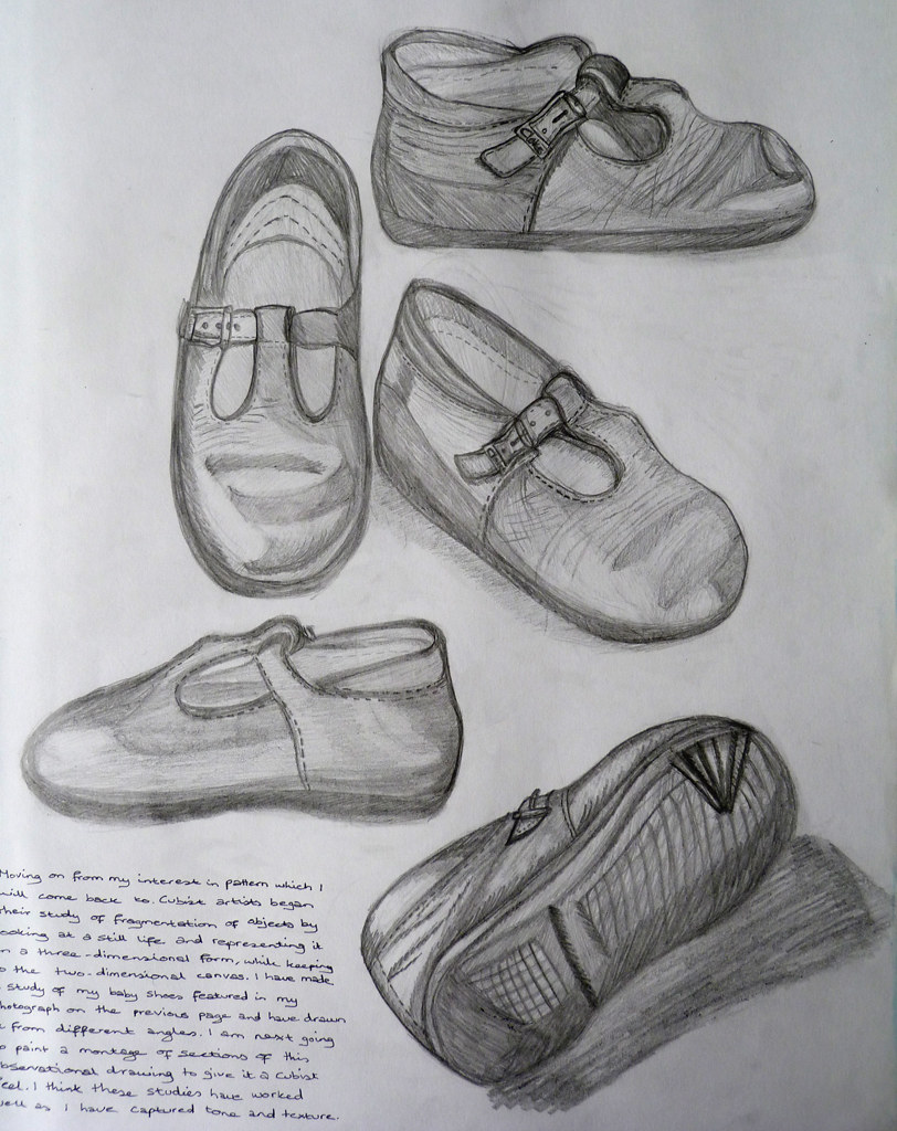 how to draw shoes from different angles
