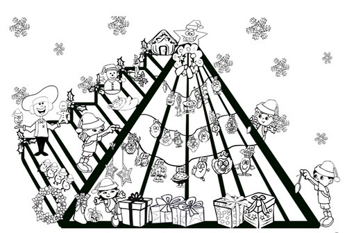 Pyramid Coloring Pages Animals