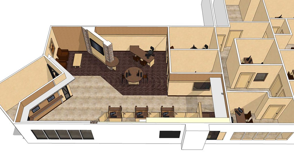 3d interior bank design 3d bank space planning custom - Interior design jobs washington state ...