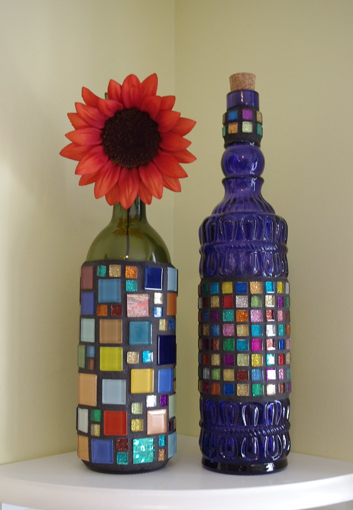 Mosaic Bottles I Went Over My Sister In Law S Last Night