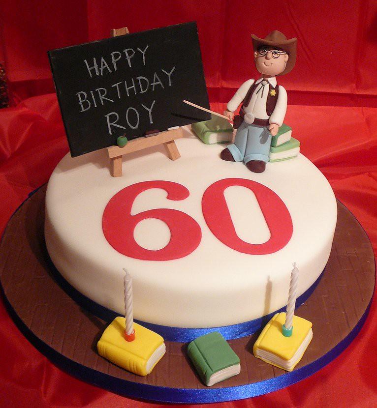 Birthday Cake Images For Teachers : 60th Cowboy Teacher Cake When Raz Attacks Flickr