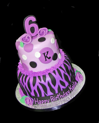 Zebra Print Birthday Party Cakes