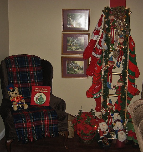 Christmas stocking ladder flickr photo sharing