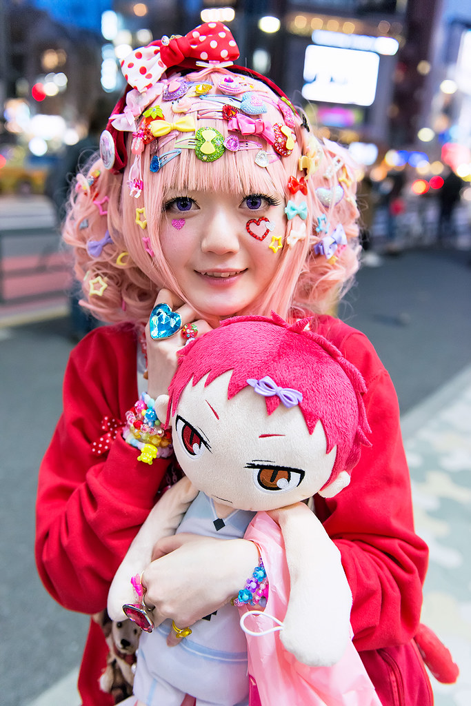 harajuku decora japanese decora mepura with colorful fashi