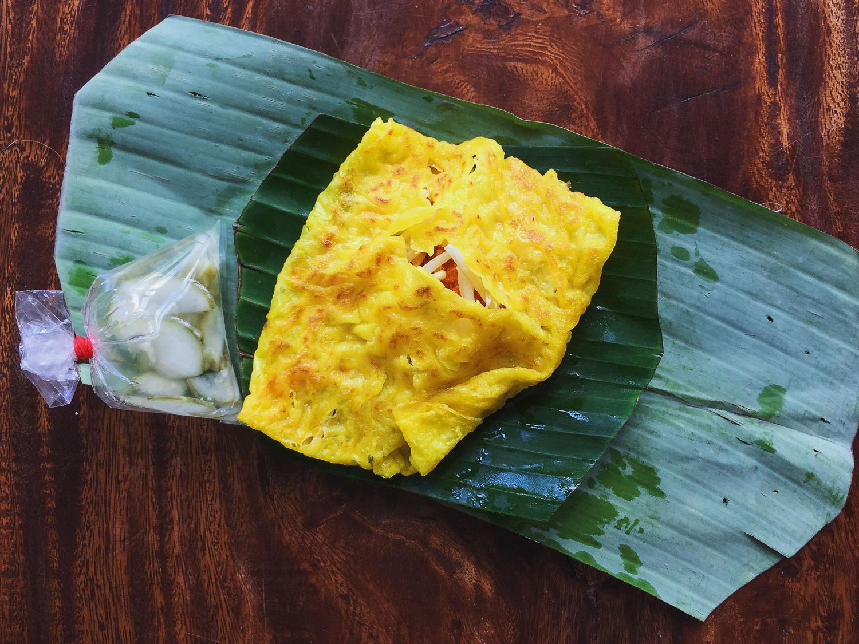 Vegan Thai Omelette Khanom Buang Yuan