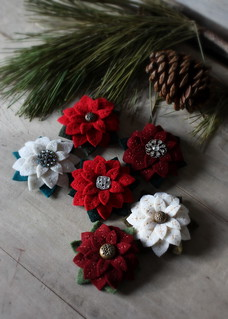 poinsettia brooches | by lilfishstudios