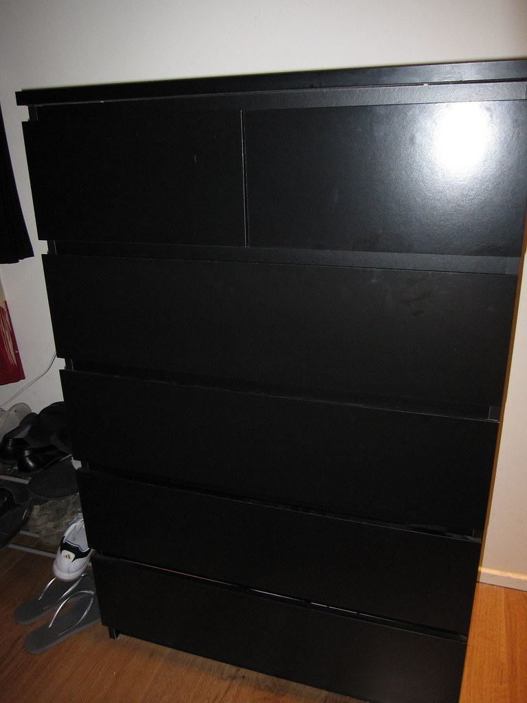 Ikea malm 6 drawer dresser black dimensions 80w x 123h for Ikea black malm