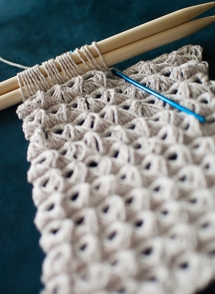 Broomstick Lace Knitting Pattern : Broomstick Lace Crochet Scarf in the Making Melissa Flickr