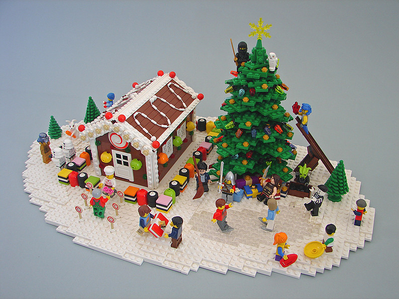 A Minifig Christmas This Scene Was Built To Illustrate A