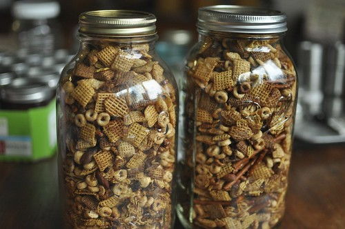 chex mix in jars | by Marisa | Food in Jars