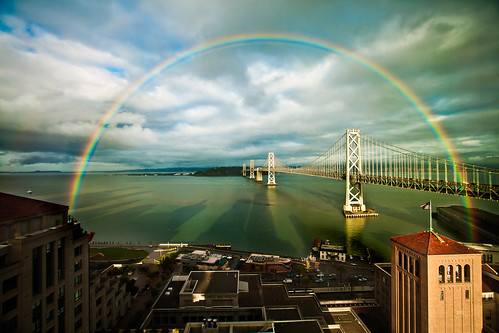 San Francisco Rainbow over the Bay Bridge | by Lisa Bettany {Mostly Lisa}