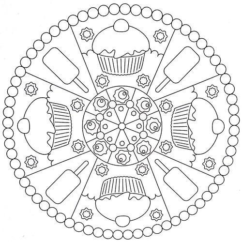 Mandala Coloring Page Cakes Flickr Photo Sharing
