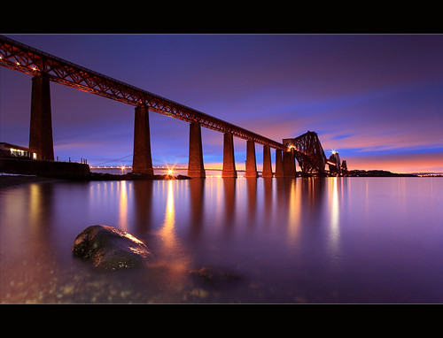 Forth Bridge Gloaming South Queensferry | by angus clyne