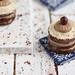 Chocolate- Cardamon- Caramel Burfi Mini Cakes