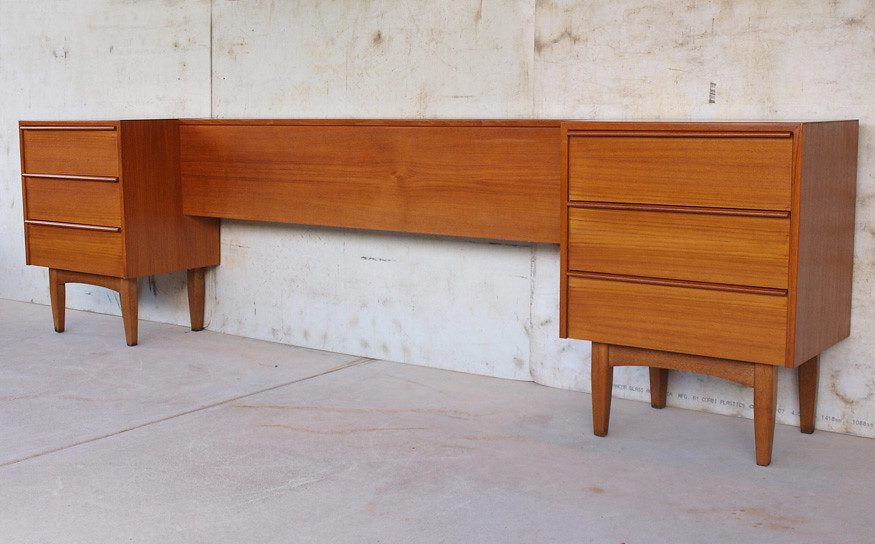 Retro Danish 1960s Teak Bedroom Set C1960s Bedside Tables Flickr