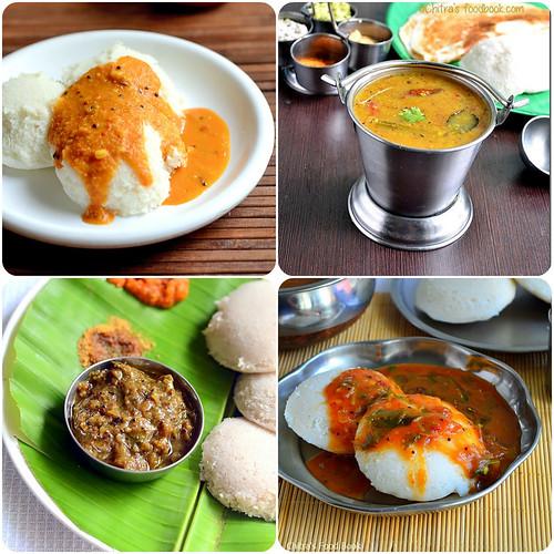 Idli sambar varieties