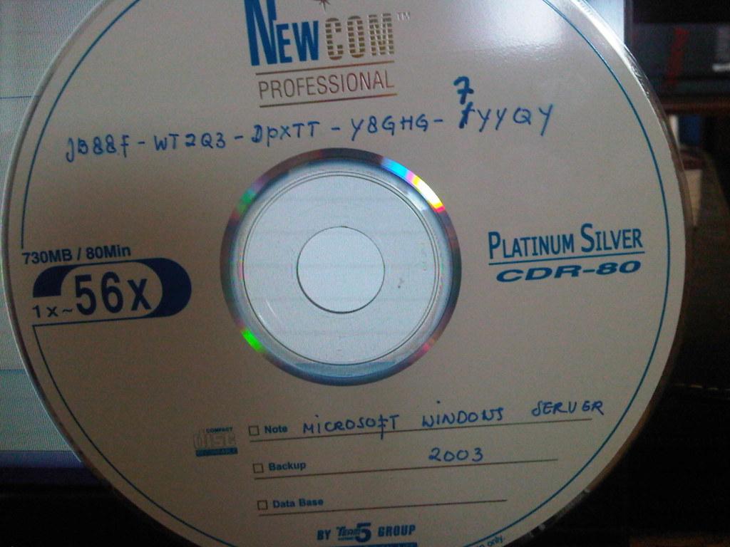 Windows 2003 change serial key