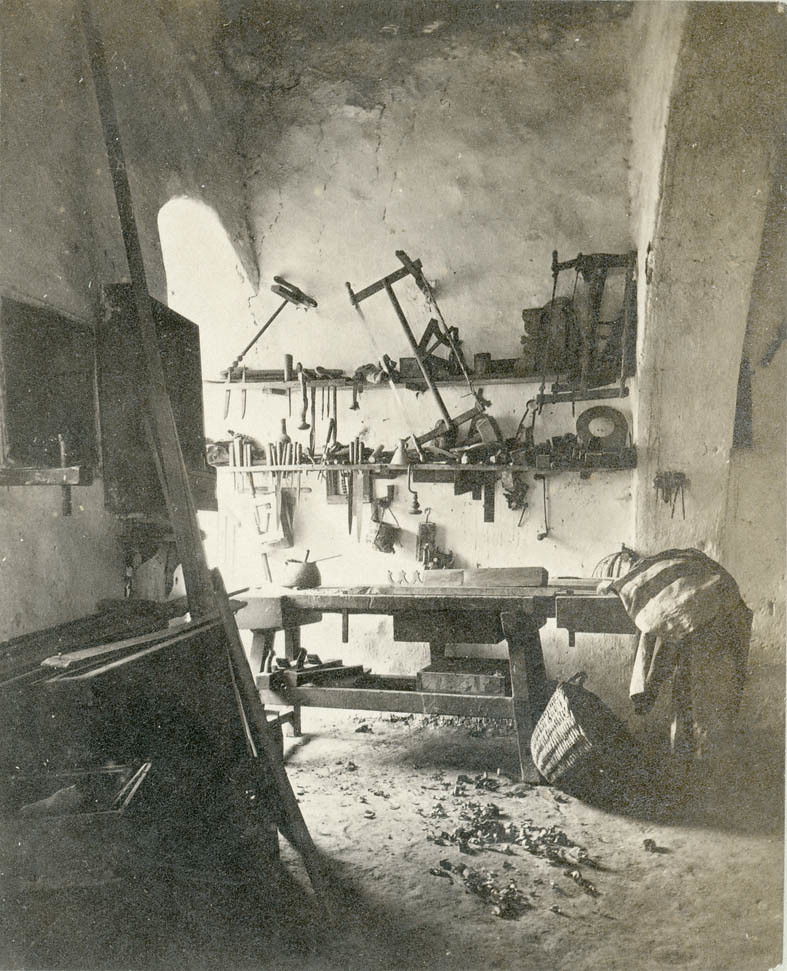A carpenter workshop in Nazareth. | This is an albumen ...