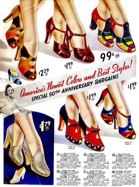 Ladies Retro Platform Shoes