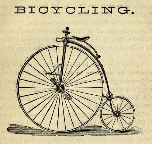 "Foto ""Bicycling -from old book"" by plaisanter~ - flickr"