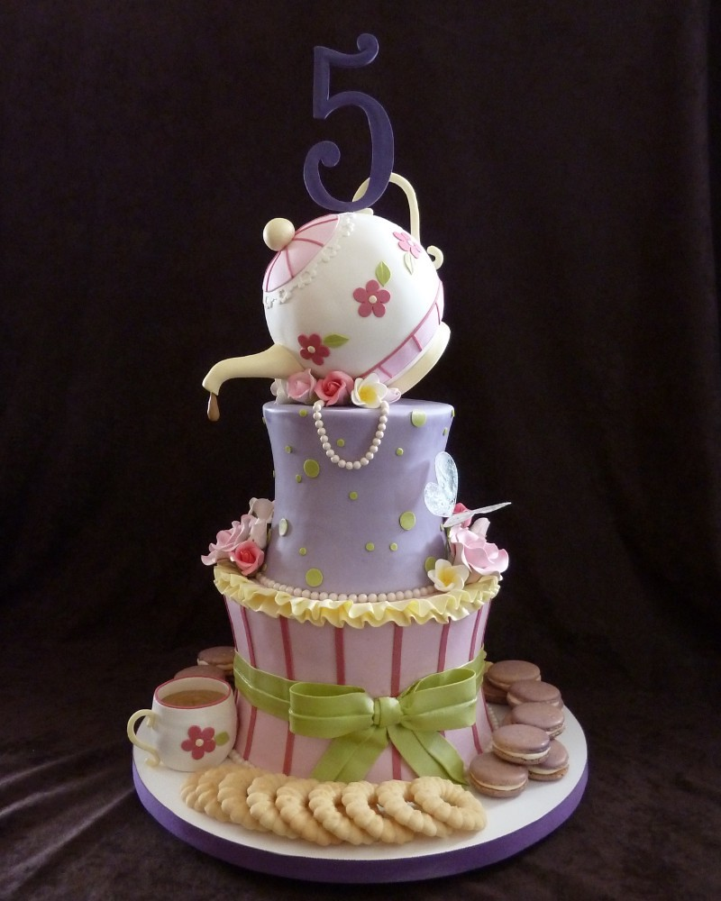 Tea Party Cake Images :