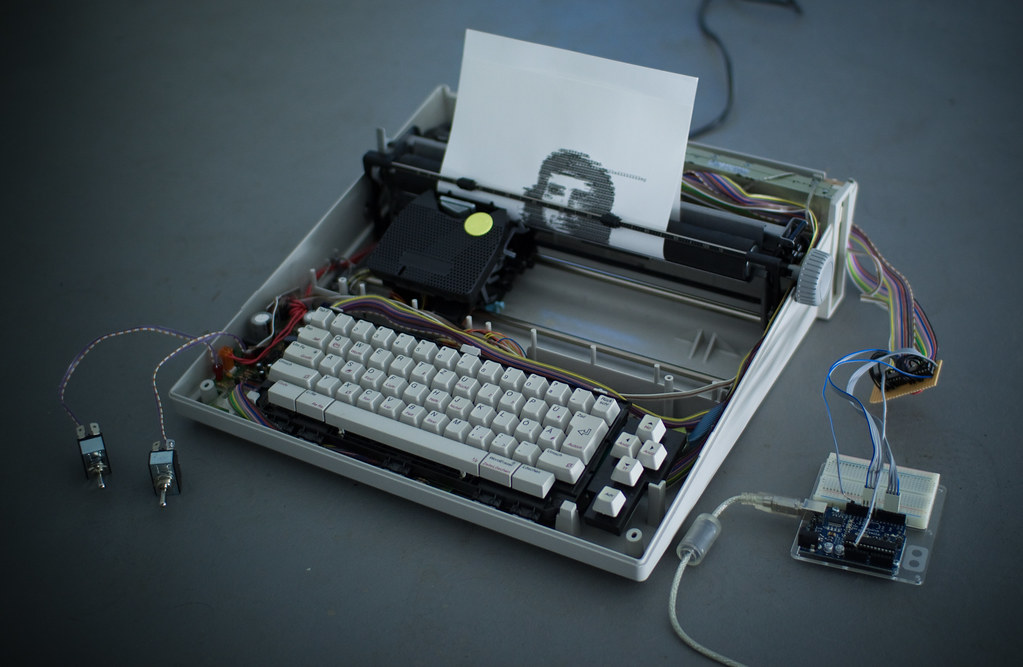 Arduino Controlled Typewriter Using Two 4051 Multiplexer I Flickr