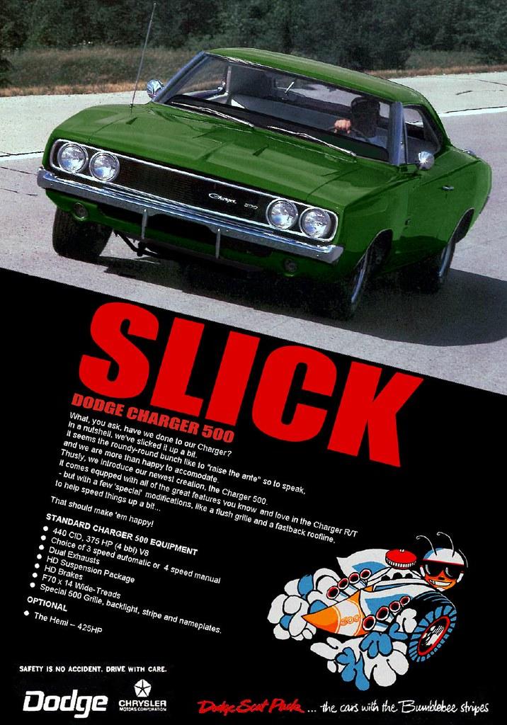 Mopar Ad 1969 Dodge Charger 500 Quot Slick Quot Mopar Ad 1969