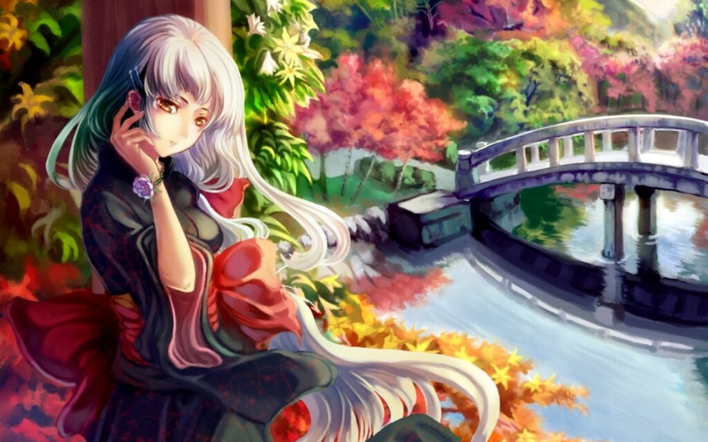 Abstract anime girl in garden josiiiiiiiiiiiii flickr - Abstract anime girl ...