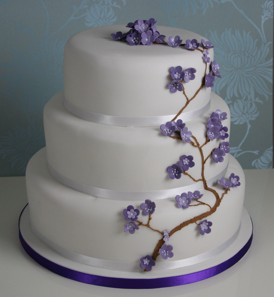 Purple Cherry Blossom Wedding Cake My First Proper