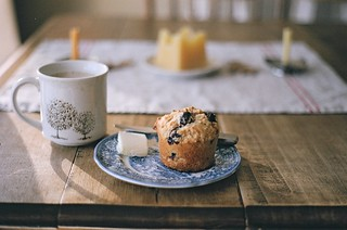 blueberry muffin and coffee :: film | by chickadee nest {martha}