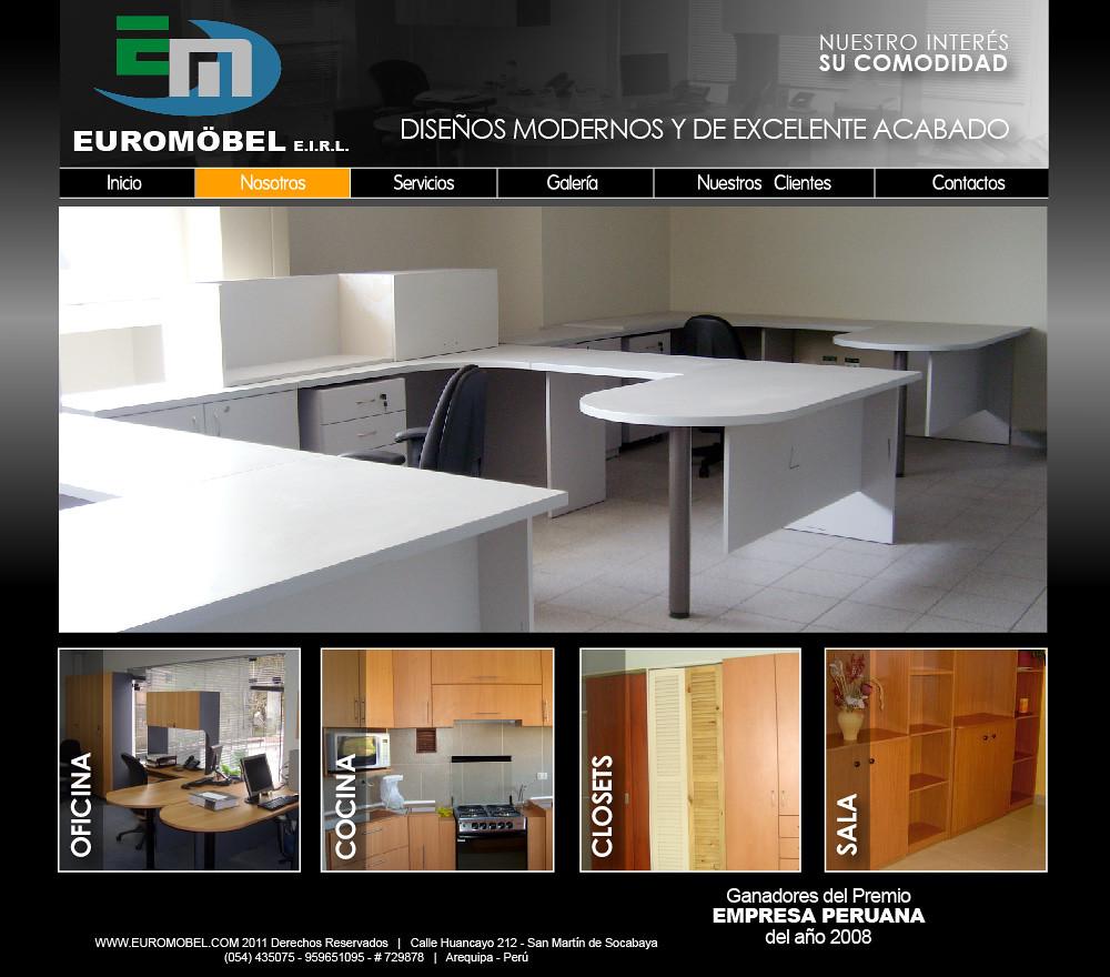 Maqueta web de una empresa dedicada a la fabricacion de mu for Fabricacion de muebles de melamina gratis