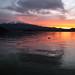あけましておめでとうございます_Mount. Fuji in sunset