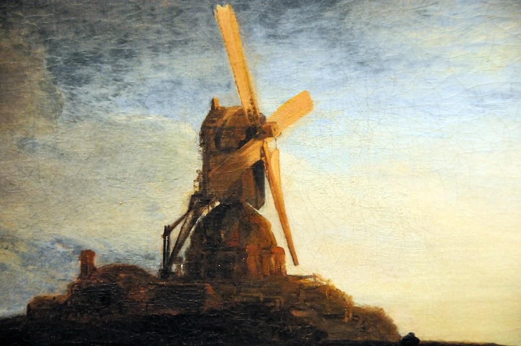 Rembrandt Van Rijn The Mill Close Up At National Art G